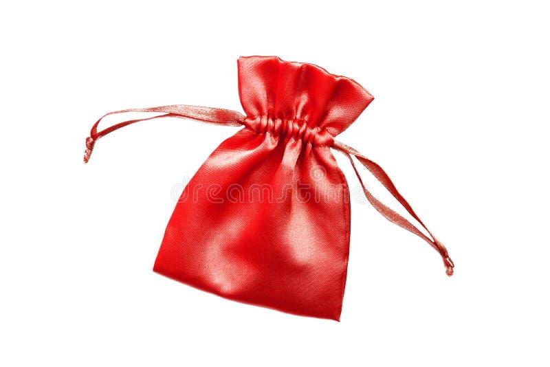torby piękny kieszonki czerwieni jedwab zdjęcia stock