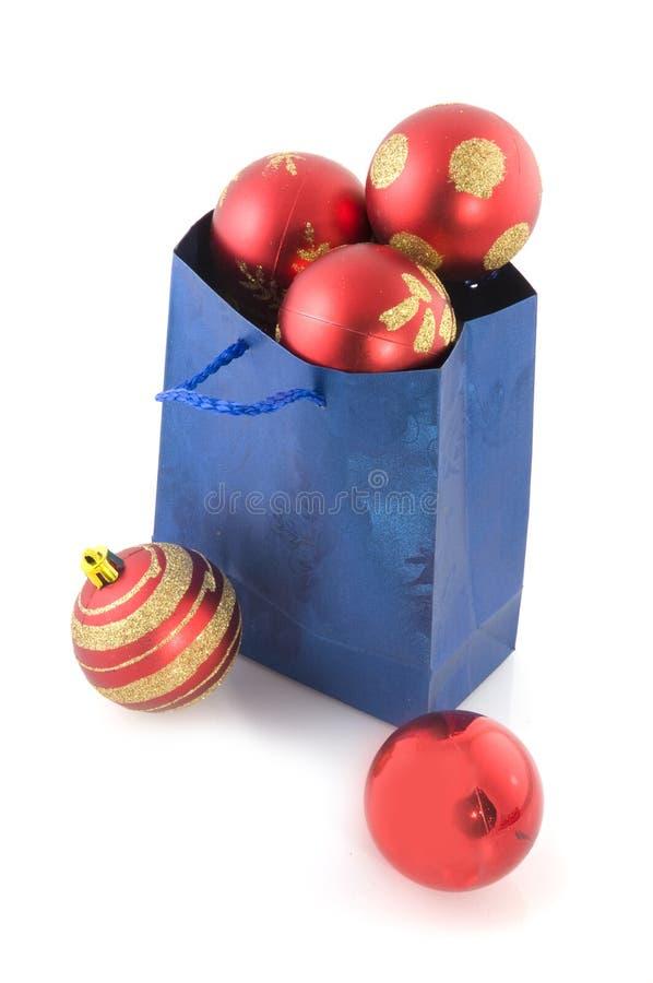 torby piłek błękitny zakupy fotografia royalty free