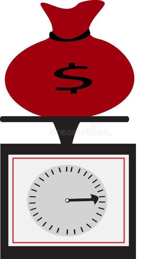 torby pieniądze czerwieni skala ilustracja wektor