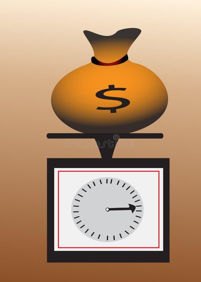 torby pieniądze skala royalty ilustracja