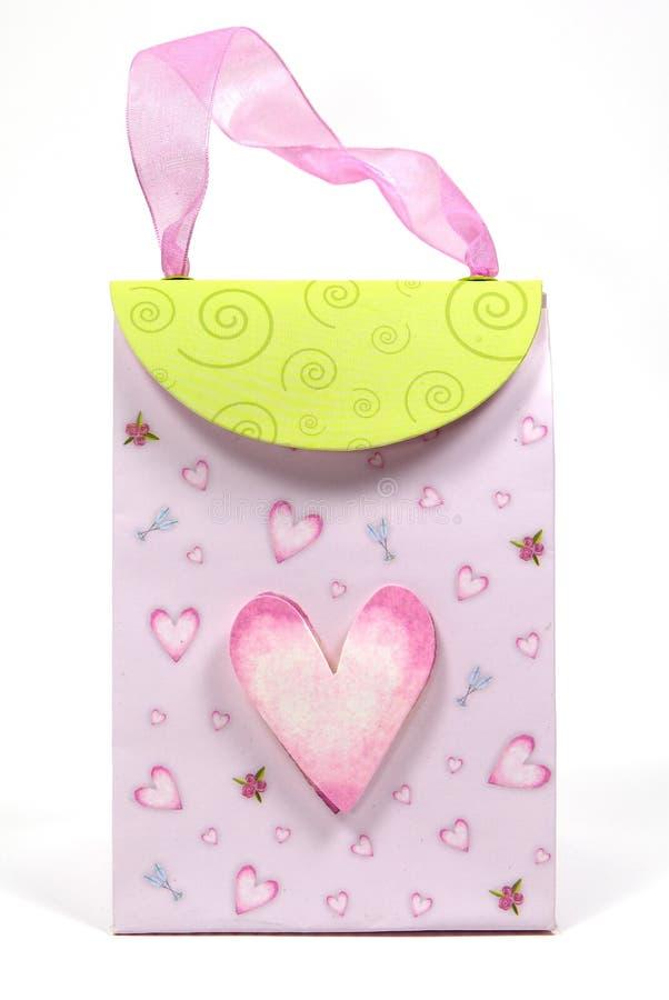 torby serce obrazy stock