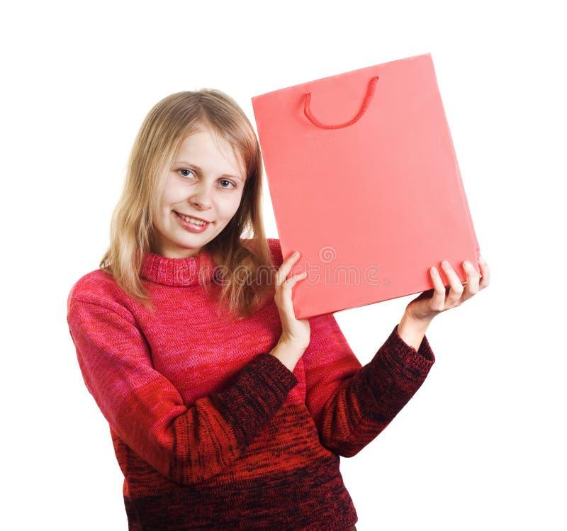 torby szczęśliwa zakupy kobieta zdjęcia royalty free