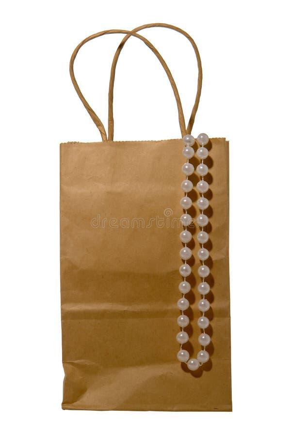torby sznurek odosobniony papierowy pereł sznurek zdjęcie royalty free