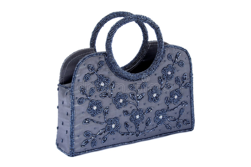 torby z paciorkami ręka fotografia stock