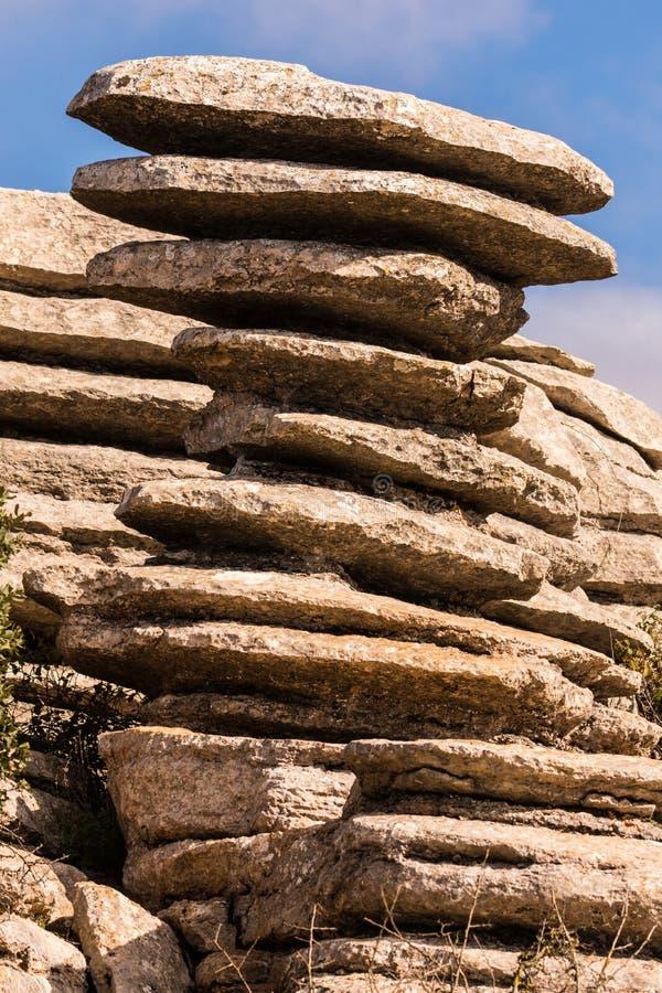 Torcal de Antequera стоковое изображение