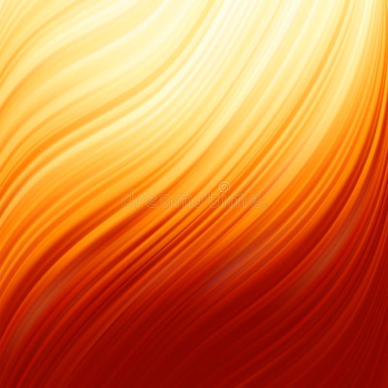 Torcedura abstracta del resplandor con flujo del fuego. EPS 8 stock de ilustración