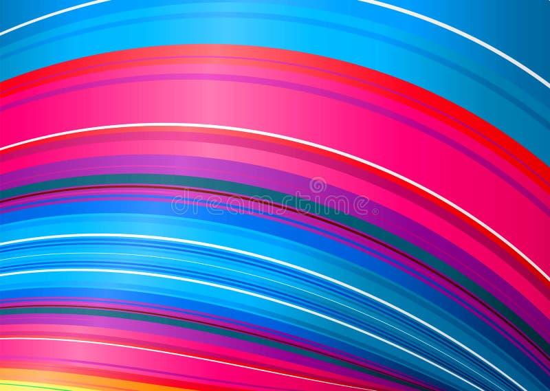 Torcedura del arco iris del caramelo ilustración del vector