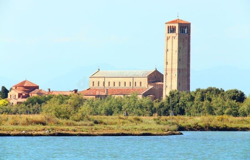 Torcello is een dun bevolkt eiland dichtbij Venetië royalty-vrije stock foto's