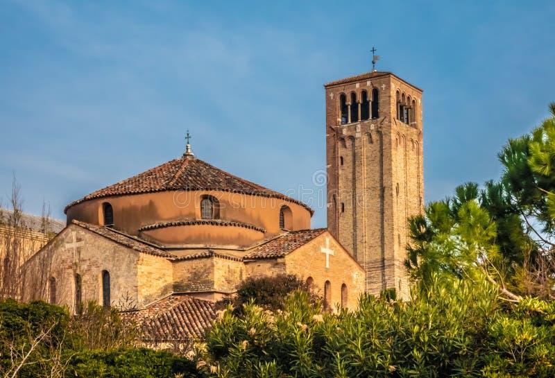 Torcello Torcellum sparsely заселенный остров на северном конце венецианской лагуны около Burano, Венеции, венето, северно стоковое фото