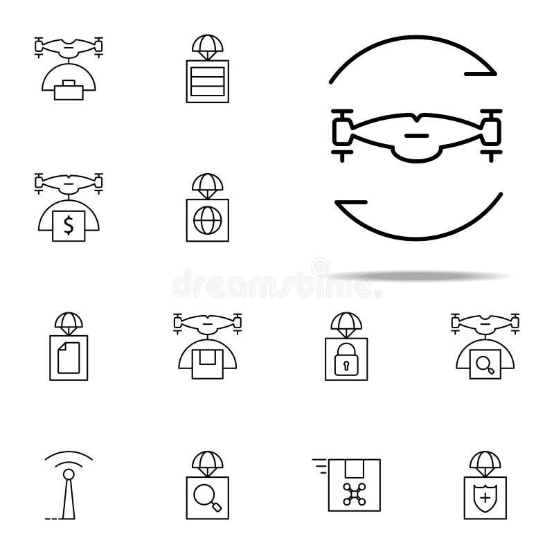 torcendo o ícone do zangão Grupo universal dos ícones dos zangões para a Web e o móbil ilustração stock