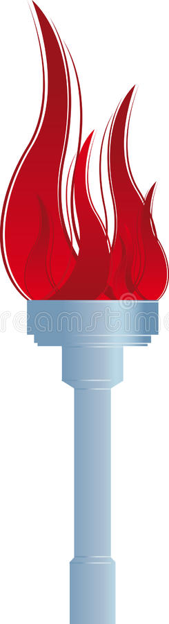 Torch stock illustration