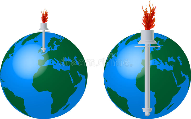Download Torch stock vector. Illustration of leader, crown, incentive - 24483606