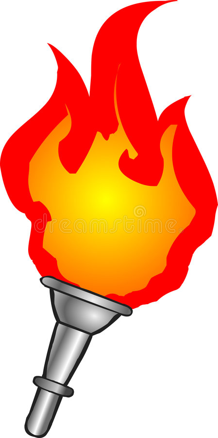 Download Torch stock vector. Image of torch, cartoon, olympic, flames - 2780520