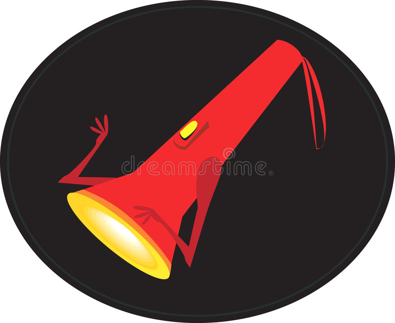 Download Torch stock vector. Image of lamp, electric, colour, flash - 3623118