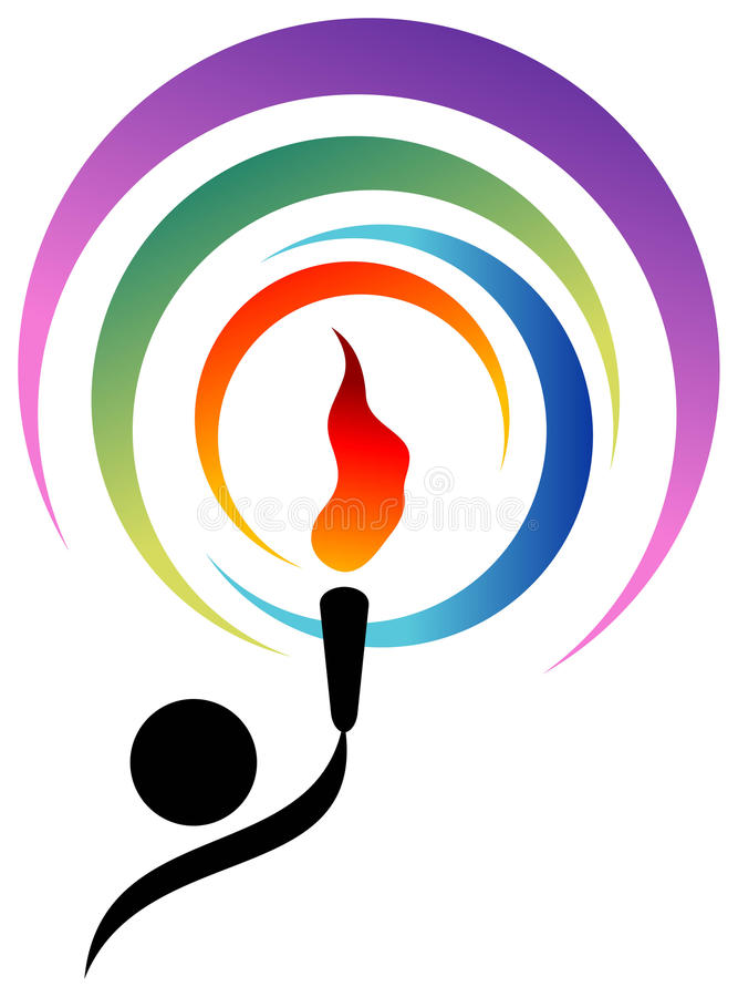 Download Torch of competition stock vector. Image of flame, colourful - 17624529