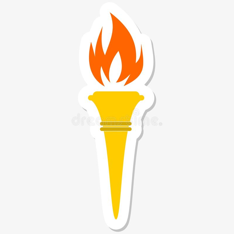 Torch Icon royalty free illustration