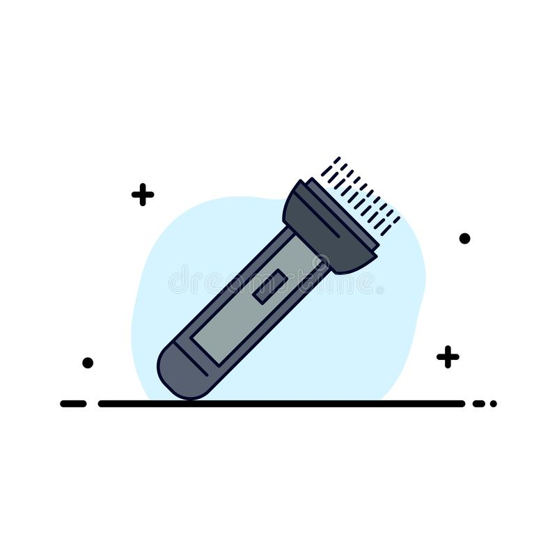 Torch, light, flash, camping, hiking Flat Color Icon Vector vector illustration
