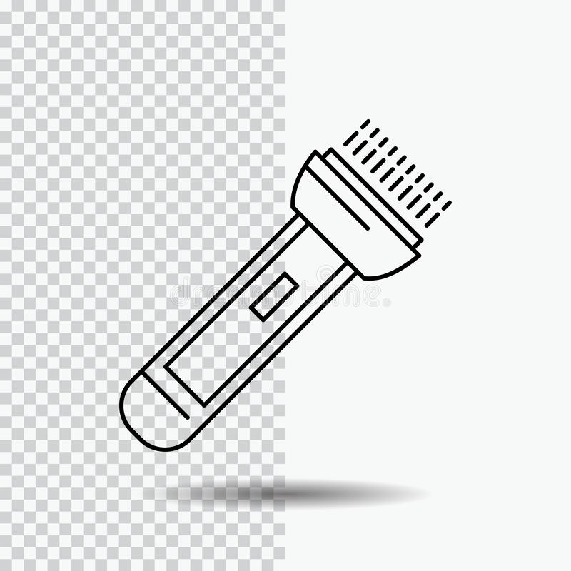 Torch, light, flash, camping, hiking Line Icon on Transparent Background. Black Icon Vector Illustration. Vector EPS10 Abstract Template background royalty free illustration