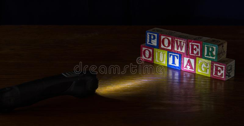 Power outage conceptual image in landscape format royalty free stock images