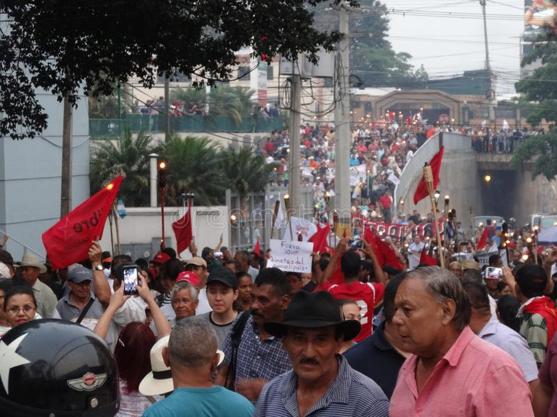 Protest against corruption in Honduras against Juan Orlando Hernandez 37 royalty free stock image