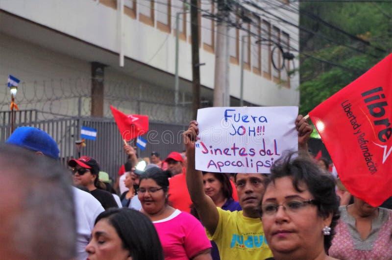 Protest against corruption in Honduras against Juan Orlando Hernandez 15 royalty free stock images