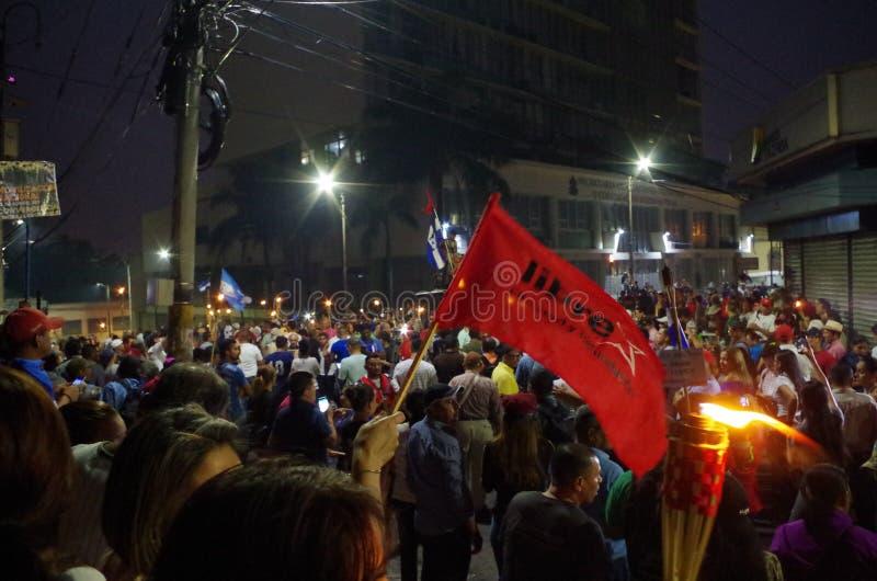 Protest against corruption in Honduras against Juan Orlando Hernandez 9 royalty free stock photo