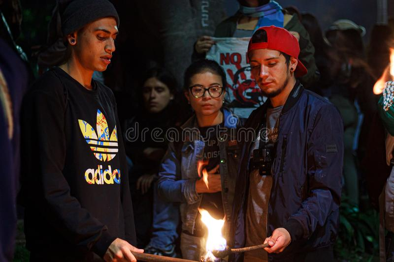 Torch Night Protest stock image