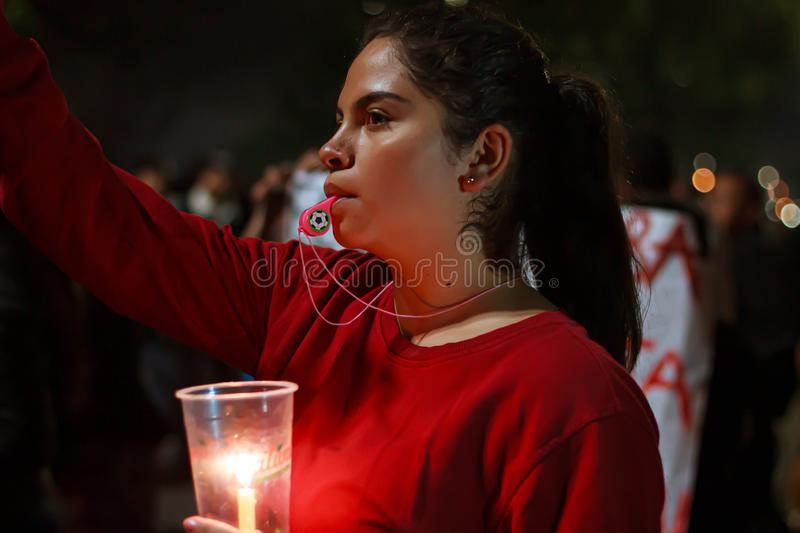 Torch Night Protest royalty free stock photography