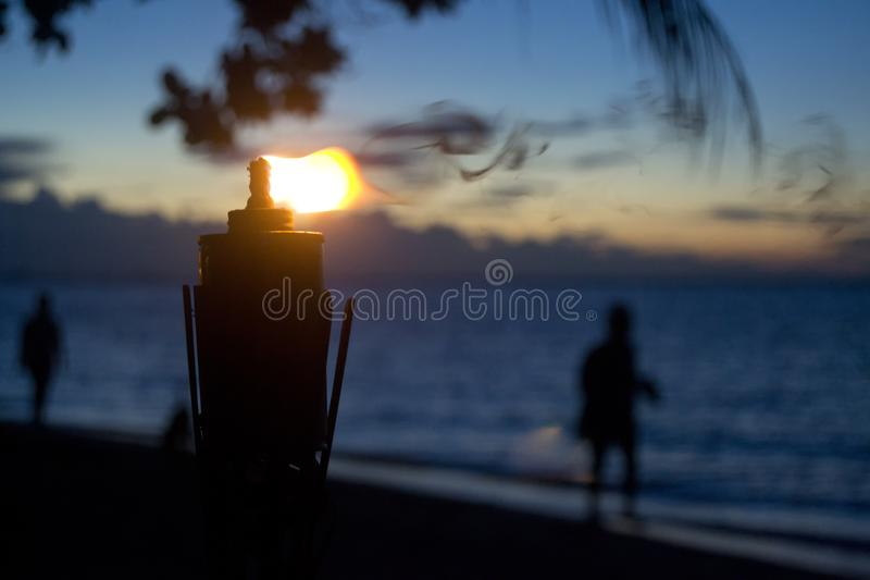 Torch on sunset background royalty free stock images