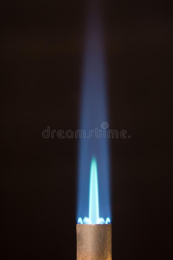 Download Torch Tip With Blue Flame And Copy Space Stock Photo - Image: 10868422