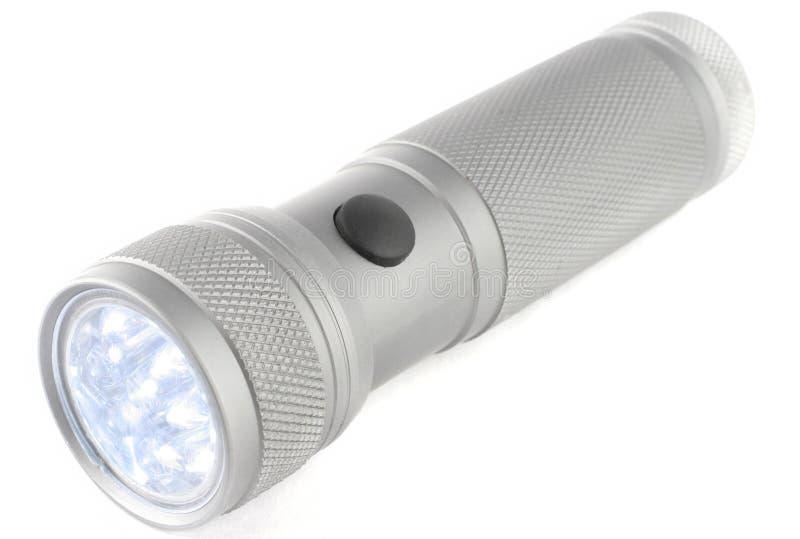 Torche en aluminium de DEL images libres de droits