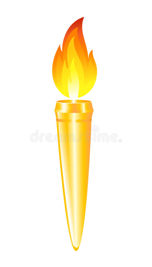 Torche olympique illustration de vecteur