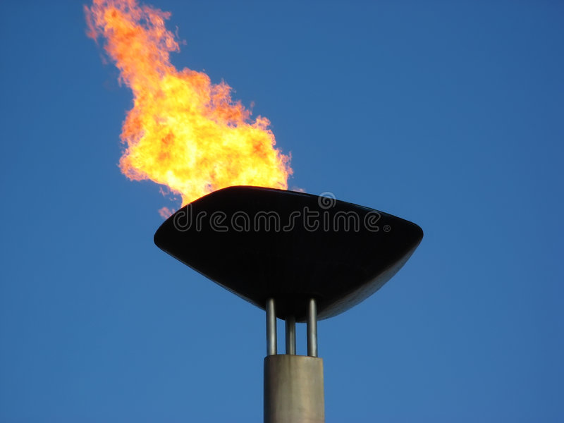 Torche olympique image stock