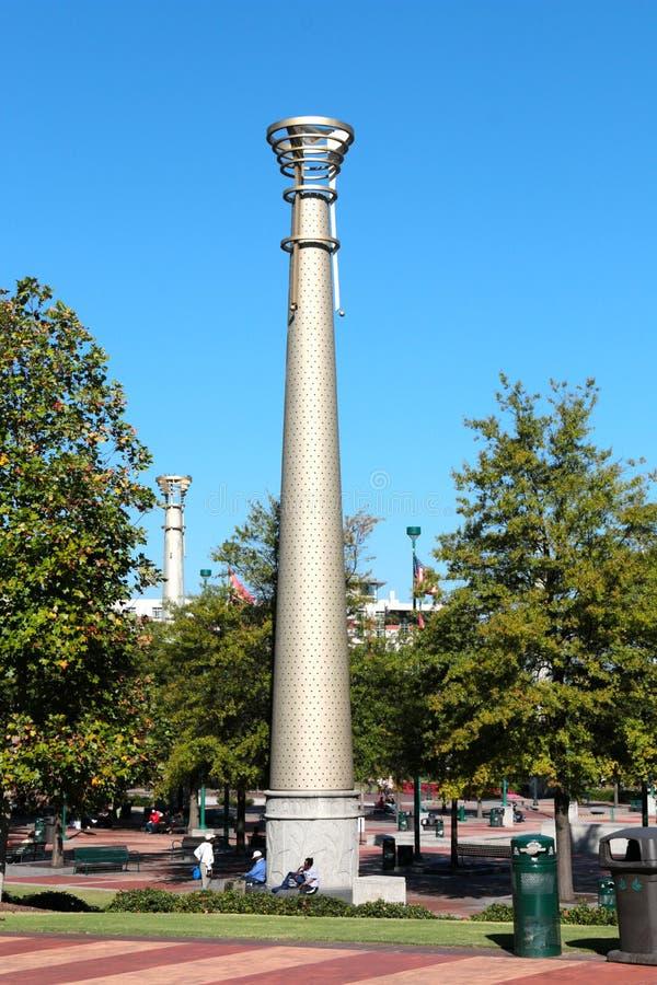 Torche olympique en parc centennal d'Atlanta photo libre de droits