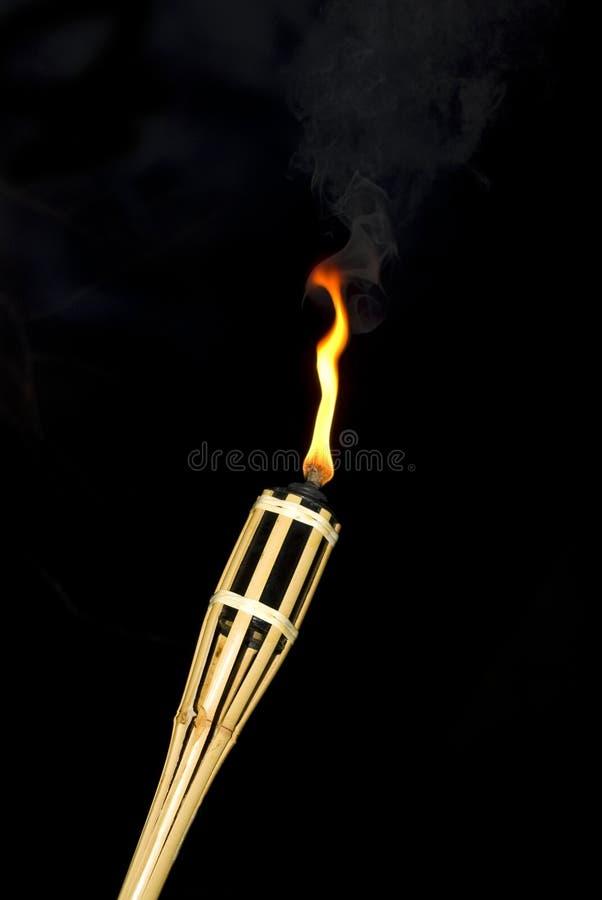 torcia di bambù immagini stock
