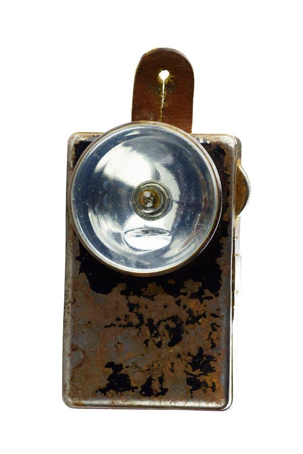 Torcia elettrica d'annata della tasca dell'esercito fotografia stock libera da diritti