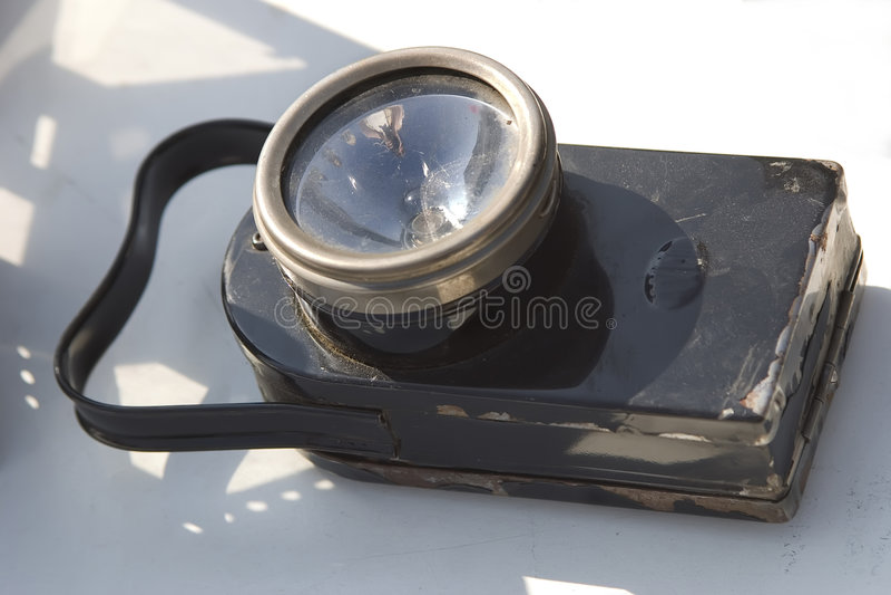 Torcia elettrica dell'annata fotografia stock libera da diritti