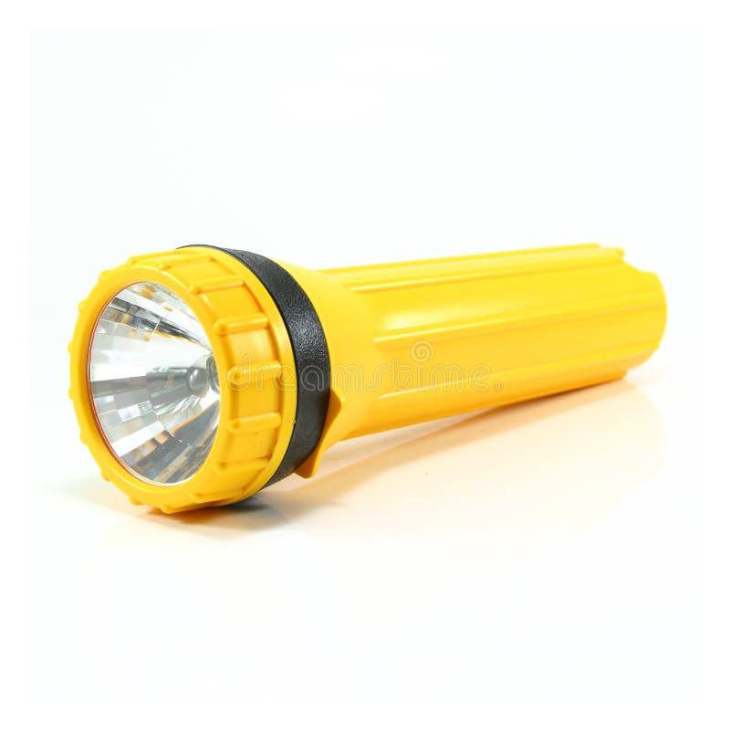 Torcia elettrica gialla immagini stock libere da diritti