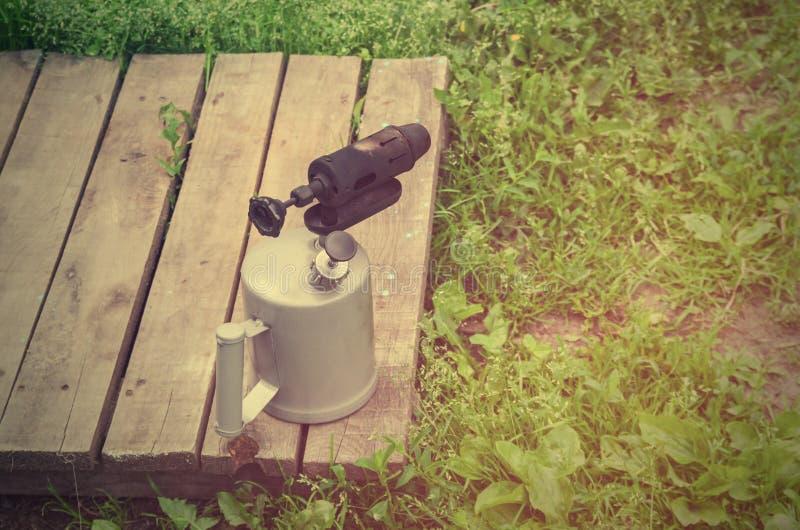 Torcia per saldature della benzina fotografie stock libere da diritti