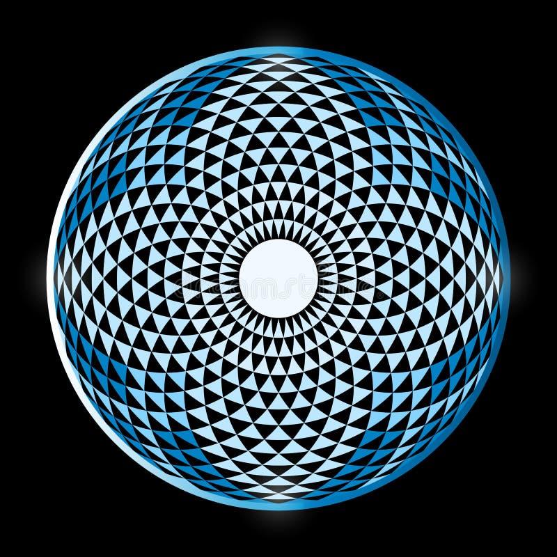 Tore Yantra, la géométrie sacrée d'oeil hypnotique illustration stock