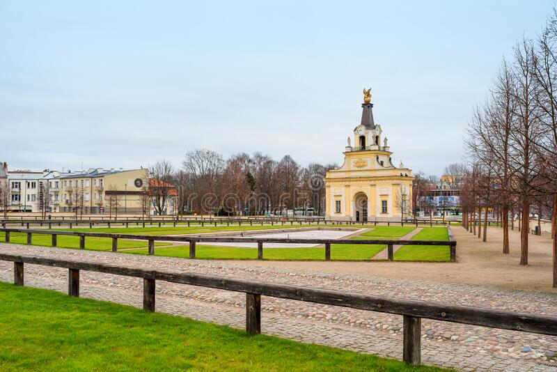 Tore zum Schloss Branicki und zum Park, Bia?ystok, Polen stockbilder