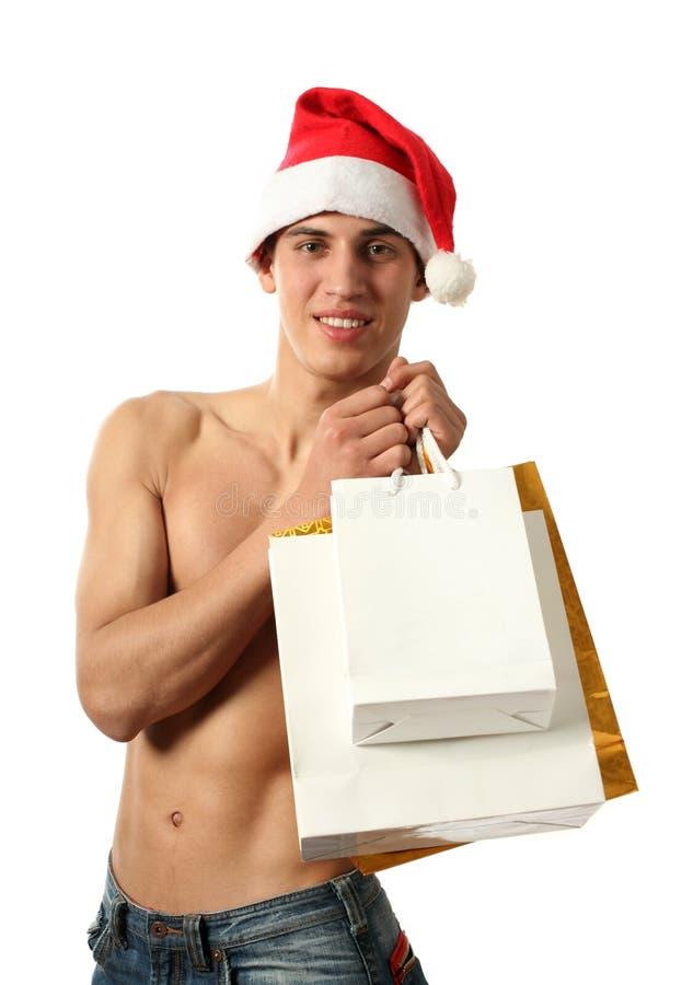 toreb Claus odbitkowa Santa seksowna zakupy przestrzeń zdjęcia stock