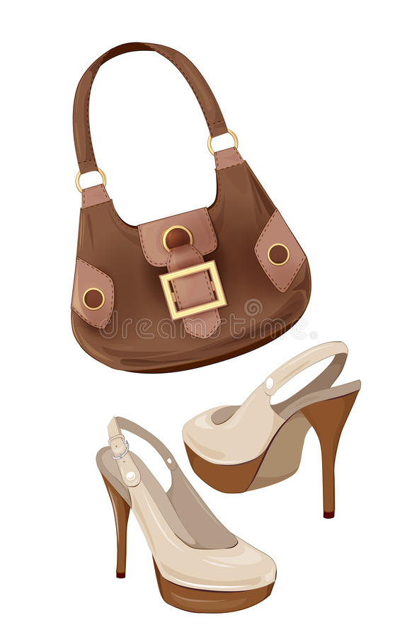 Torebki i buty ilustracja wektor