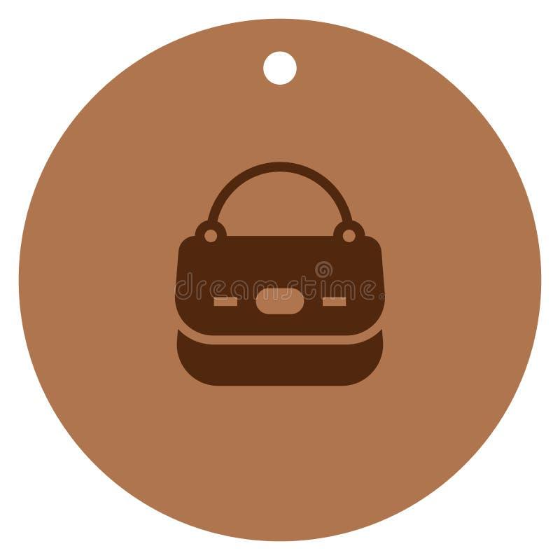 Torebki ikona, żeńskiej torby wektorowa ikona, torba na zakupy wektoru ikona ilustracja wektor