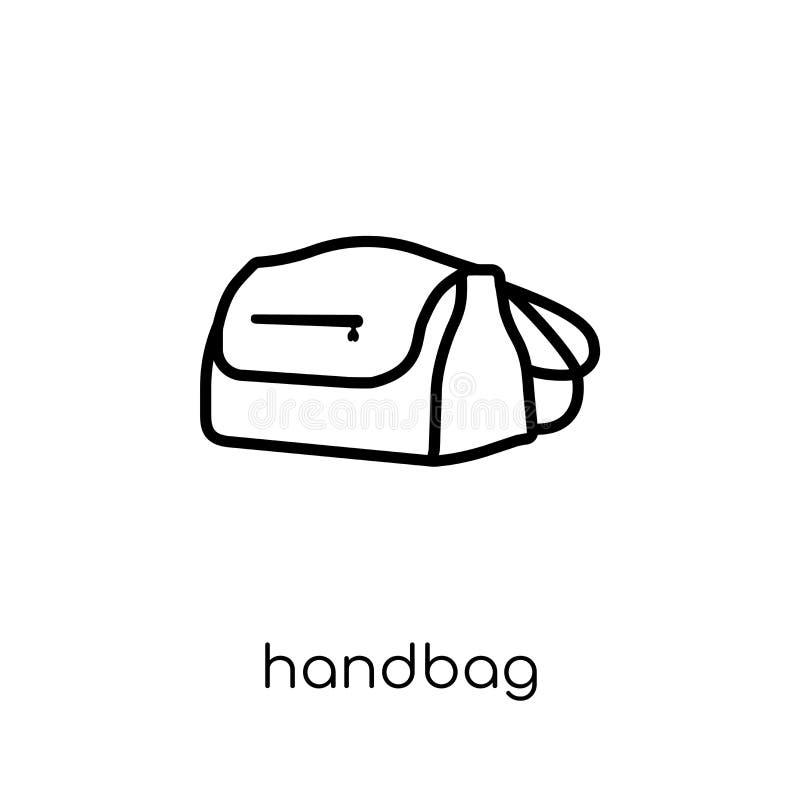 Torebki ikona Modna nowożytna płaska liniowa wektorowa torebki ikona na w ilustracja wektor
