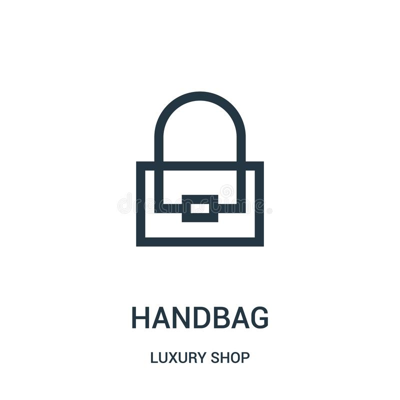 torebki ikony wektor od luksusu sklepu kolekcji Cienka kreskowa torebka konturu ikony wektoru ilustracja ilustracji