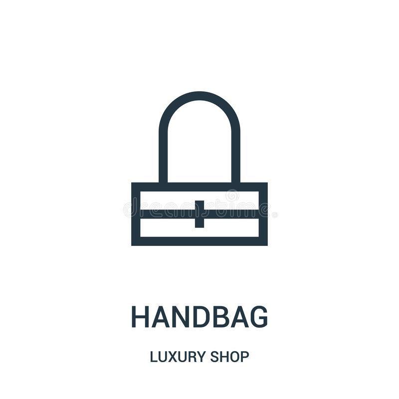 torebki ikony wektor od luksusu sklepu kolekcji Cienka kreskowa torebka konturu ikony wektoru ilustracja royalty ilustracja