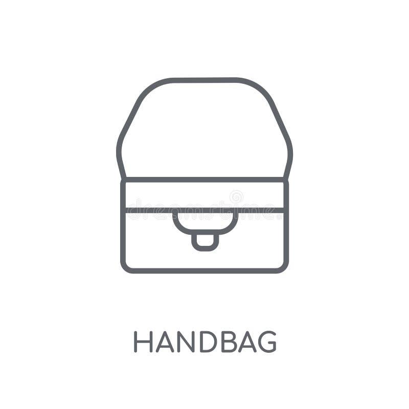 Torebki liniowa ikona Nowożytny kontur torebki logo pojęcie na whit ilustracja wektor