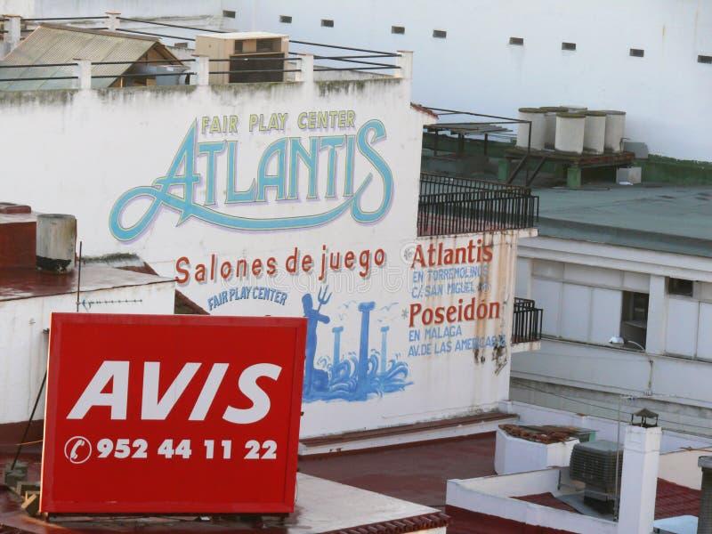 Toremolinos, Spagna 12/31/2006 Cartelloni pubblicitari sullo sviluppo del fa fotografia stock