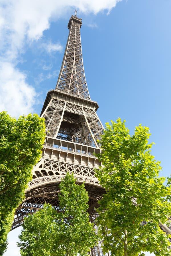 Toren één van Eiffel gebied van Mars in Parijs, Frankrijk stock afbeelding